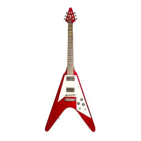 Guitarra Benson Flying V  Wine Red V-ROD WR