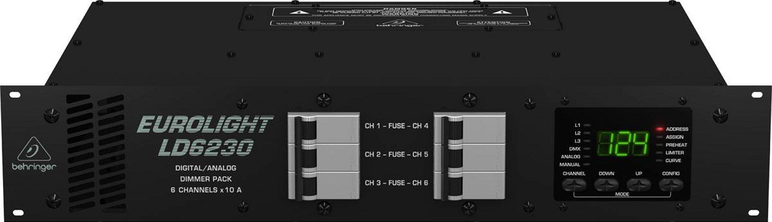 Dimmer para Lâmpadas Behringer LD6230  6 Canais 10A 110V