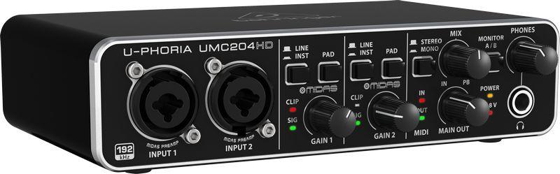 Interface De Áudio Behringer UMC204HD UPHORIA