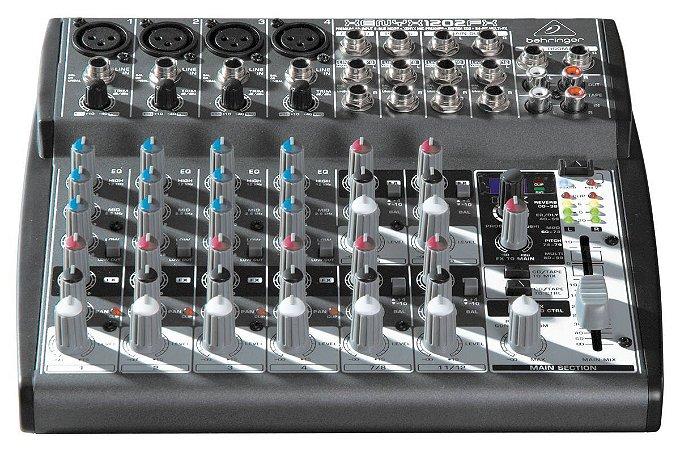 Mesa de Som Mixer Behringer Xenyx 1202FX 12 Canais 110V