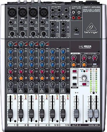 Mesa de Som Mixer Behringer Xenyx 1204 12 Canais USB