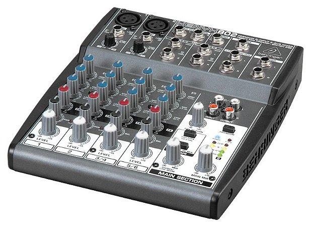 Mesa de Som Mixer Behringer 8 Canais Xenyx 802 110V