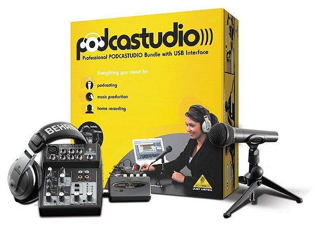 Kit Estudio Behringer Podcastudio USB