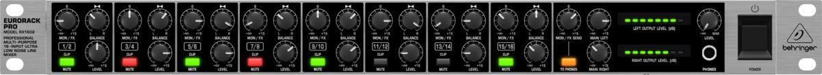 Mixer Behringer EuroRack RX1602 110V