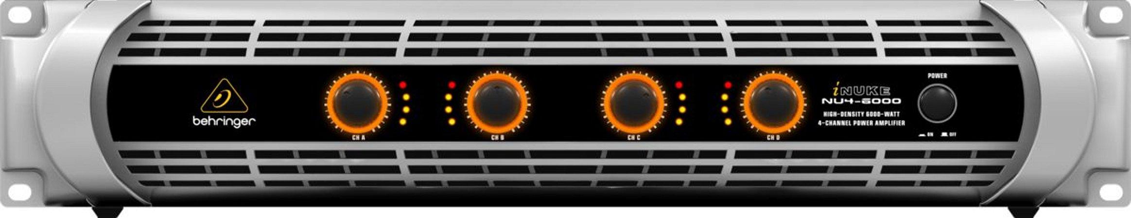 Amplificador de Potência Behringer  Inuke NU4-6000 6000W 110V