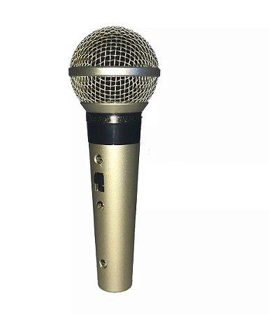 Microfone Com Fio Profissional Leson Sm58 Plus Com Cachimbo