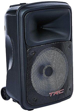 Caixa de Som Amplificada Portátil TRC536 480W RMS Bluetooth