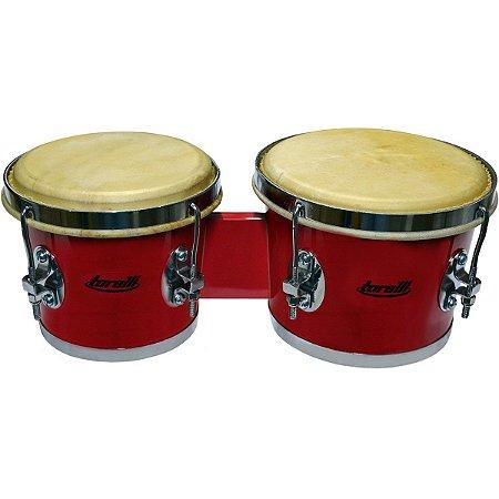 Bongô De Madeira Vermelho 7 X 8 Torelli Tb011 Animal