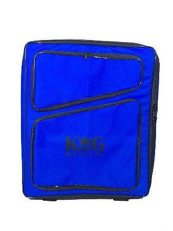 Mochila Bag Para Baqueta E Acessórios De Bateria Luxo Azul