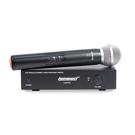 Microfone sem fio Dinâmico Lexsen LM-WF58 Bivolt