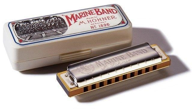 Gaita Harmonica Hohner Marine Band 1896/20 - F# (FA SUSTENIDO)