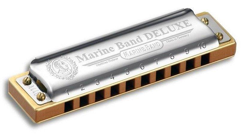Gaita Harmonica Hohner Marine Band Delu. 2005/20 DB RE BEMOL