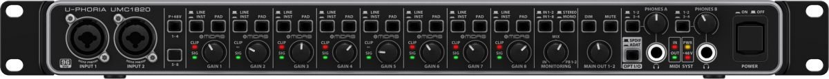 UMC1820 - INTERFACE DE AUDIO - BEHRINGER