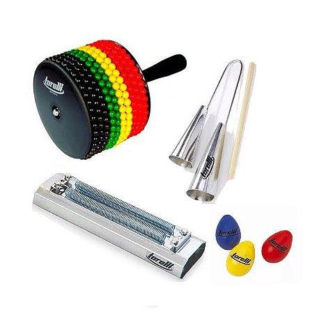 Kit Afuxe Torelli Jamaica TX016 Agogo Reco TR500 3 Ovinhos