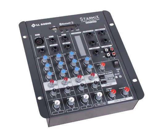 Mesa De Som 4 Canais Starmix Ll Audio S402r USB BLUETOOTH