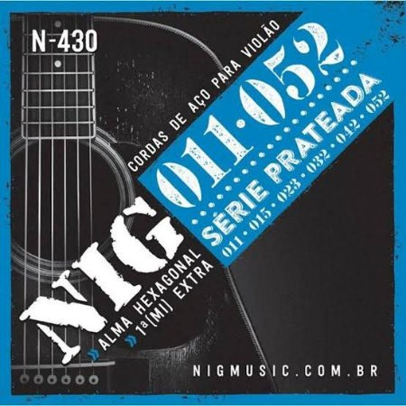 Encordoamento de Aço Para Violão Nig 011 N430