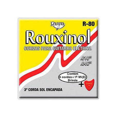 Encordoamento Para Guitarra Elétrica Rouxinol R-80 010
