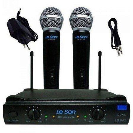 Microfone Sem Fio UHF Leson Duplo LS902
