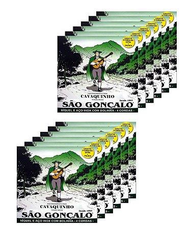 Kit Atacado 12 Encordoamento Corda São Gonçalo Cavaco