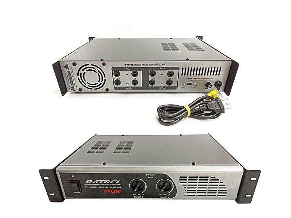 Amplificador Potencia Datrel Profissional PA1200 200W