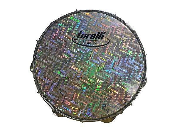 Pandeiro Torelli TP308 Pele Holográfica Azul