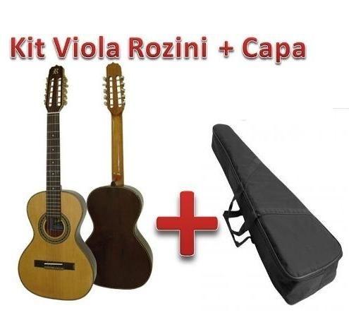 Viola Cinturada Rozini Presença Brasil Elétrica + Capa Grátis - RV215AT-LP