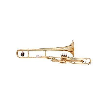 Trombone Pisto Do Laqueado C/semi Case Dolphin