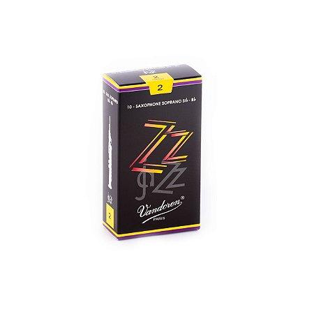 Palheta Zzjazz 2 P/sax Soprano Cx C/10 Sr402 Vandoren