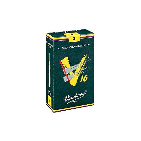Palheta V16 3 P/sax Soprano Cx C/10 Sr713 Vandoren
