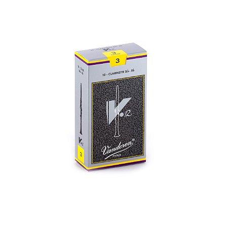 Palheta V.12 3 P/clarinete Sib Cx C/10 Cr193 Vandoren