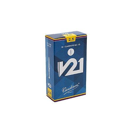 Palheta V21 2,5 P/clarinete Eb Cx C/10 Cr8125 Vandoren