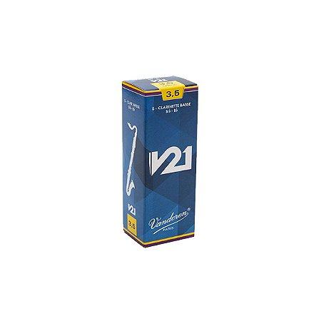 Palheta V21 2,5 P/clarinete Baixo Cx C/5 Cr8225 Vandoren