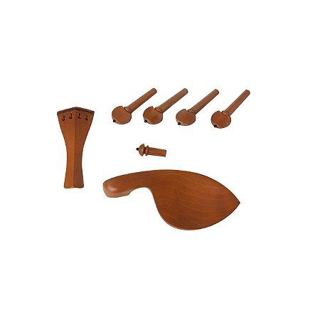 Kit Coracao violino 4/4 Boxwood 7 Pecas Pino Preto Dominante