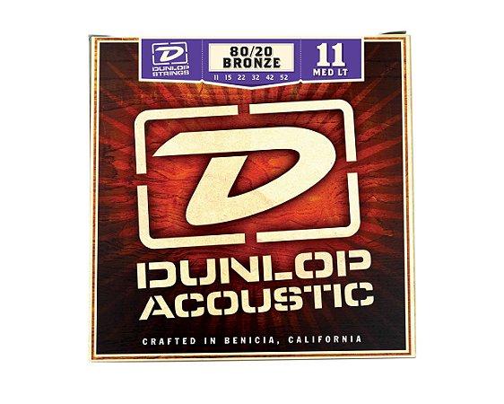 Enc. 011 Bronze 80/20 P/violao Aco Media/leve Dab1152 Dunlop