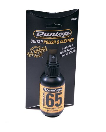 Limpador/polidor F65 P/guitarra/baixo C/flanela  654c Dunlop