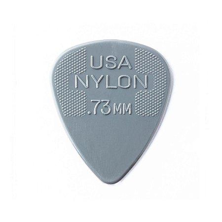 Palheta Nylon Standard 0,73mm Cinza Pct C/72 44r.73 Dunlop