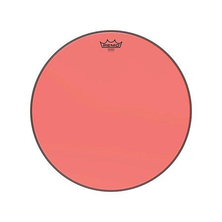 """Pele 18"""" Emperor Colortone Transpar Vermelha Be0318ctrd Remo"""