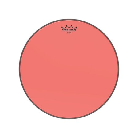 """Pele 16"""" Emperor Colortone Transpar Vermelha Be0316ctrd Remo"""