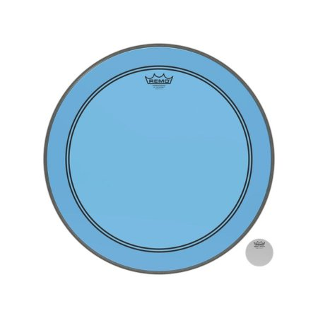 """Pele Bumbo 20"""" Powerstroke Transparente Azul P31320ctbu Remo"""