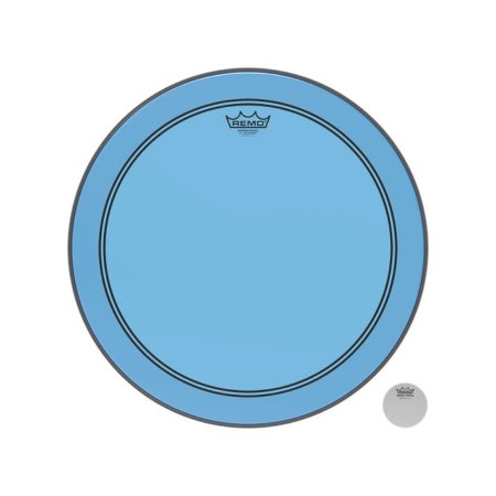 """Pele Bumbo 18"""" Powerstroke Transparente Azul P31318ctbu Remo"""
