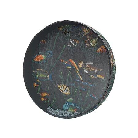 Ocean Drum 16x2.5 Pol C/ Pintura De Peixes Et0216-10 Remo
