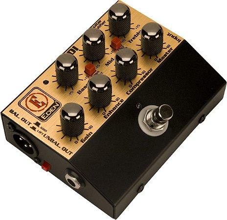 Pedal para Contrabaixo Eden WTDI-B Pre Amp com Direct Box
