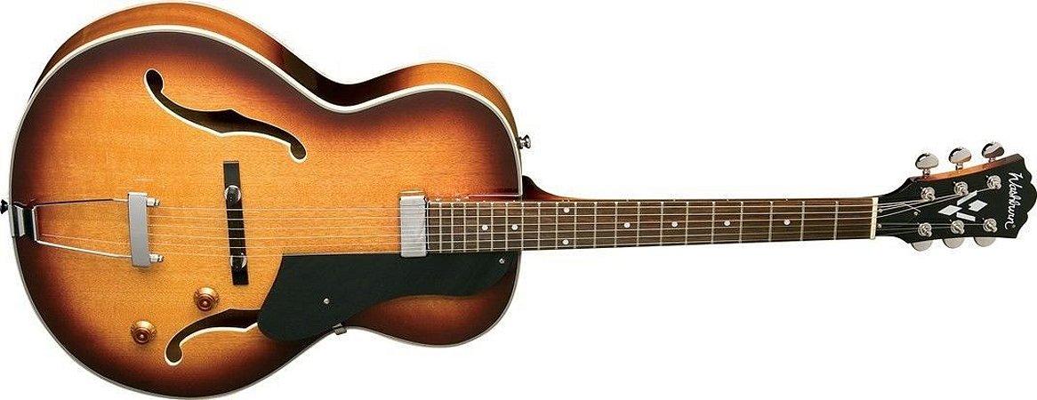 Guitarra Semi Acústica Washburn HB15CTS Cutway Tobacco Fosco