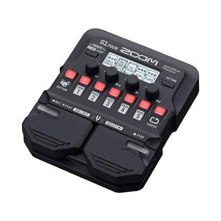 Pedaleira Zoom Com Modulo de Efeitos P Guitarra Zoom G1 Four