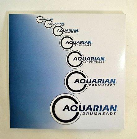 "Kit com 3 peles Aquarian Drumheads Response II  10"", 12"" e 14"""