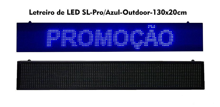 Painel de Led Azul Letreiro Luminoso SL1323 USB 130X20