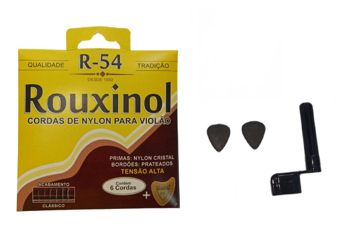 Kit Acessórios Violão Nylon Rouxinol R54 Encordoador