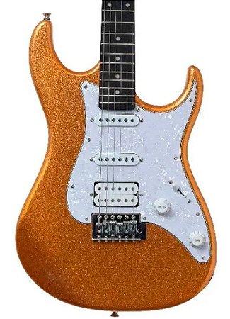 Guitarra Elétrica Tagima TG520 Dourada Metallic Gold Yellow