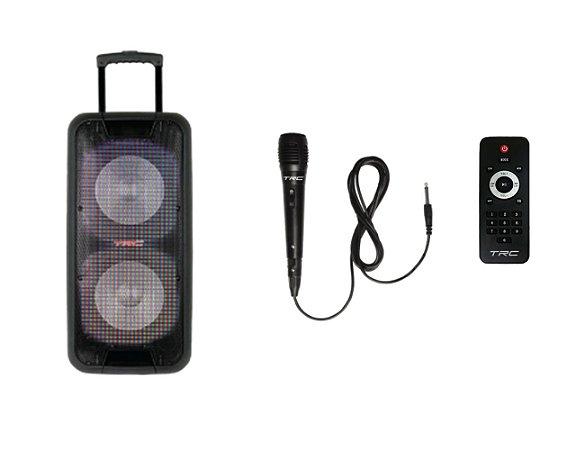 Caixa de Som Amplificada Portátil TRC 5570 Bluetooth 700W