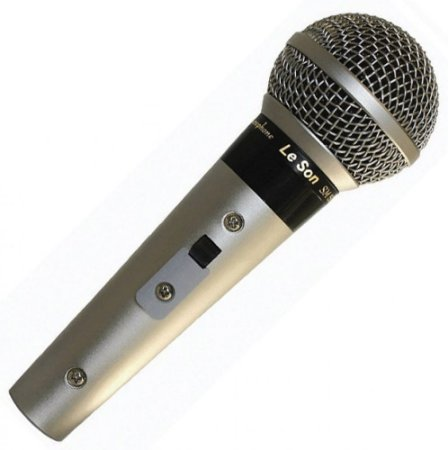 Microfone Com Fio Leson SM58 P4 Metalico Com Cachimbo